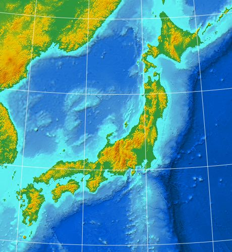 SimpleDEMViewer Sample Pictures - Japan map projection